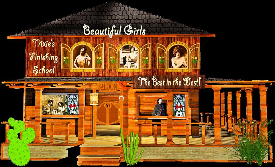 Free Photo Wild West Western Bordello Prostitution Whore House Max Pixel