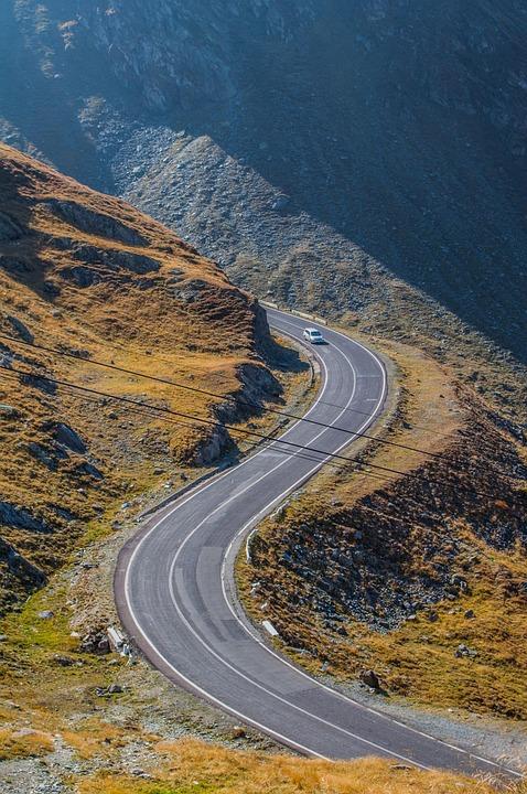 Serpentine, Alps, Mountain, Road, Landscape, Wilderness