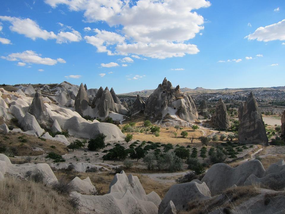 Cappadocia, Turkey, Cave, Sky, Landscape, Wilderness