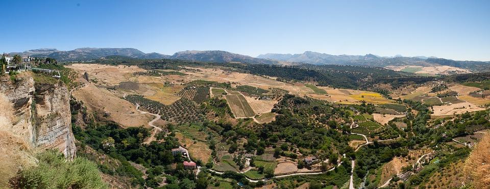 Ronda, Spain, Sky, Landscape, Wilderness, Scenery