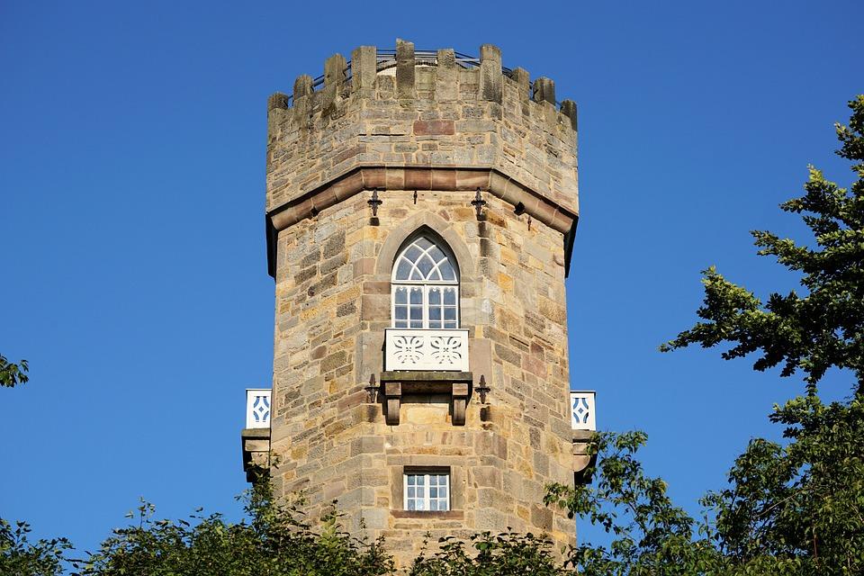 Tower, Calden, Wilhelmsthal, Residence, Building