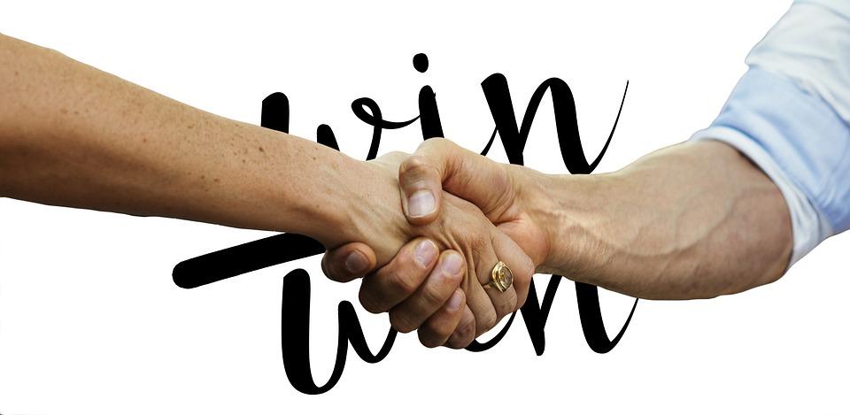 Hands, Win Win, Win, Each Other, Businessmen, Team