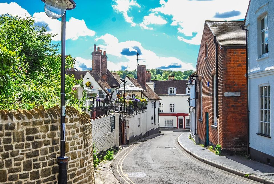 Winchester, Street, Uk, Brick, Architecture, Building