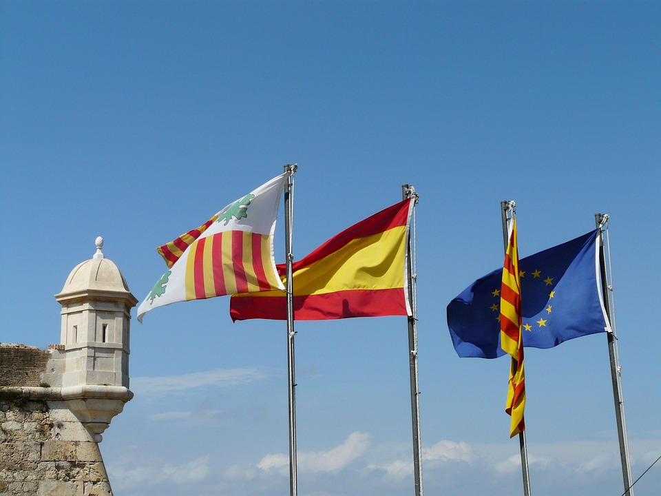 Flag, Flags, Wind, Blow, Colorful, Color, Spain, Europe