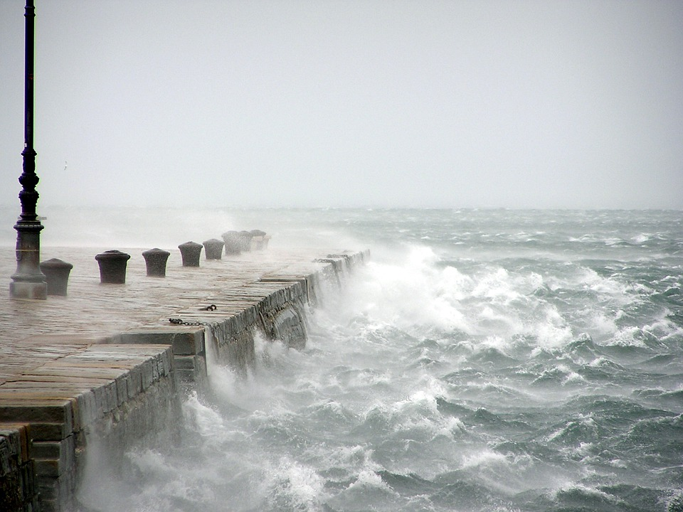 Bora, Wind, Stormy Sea