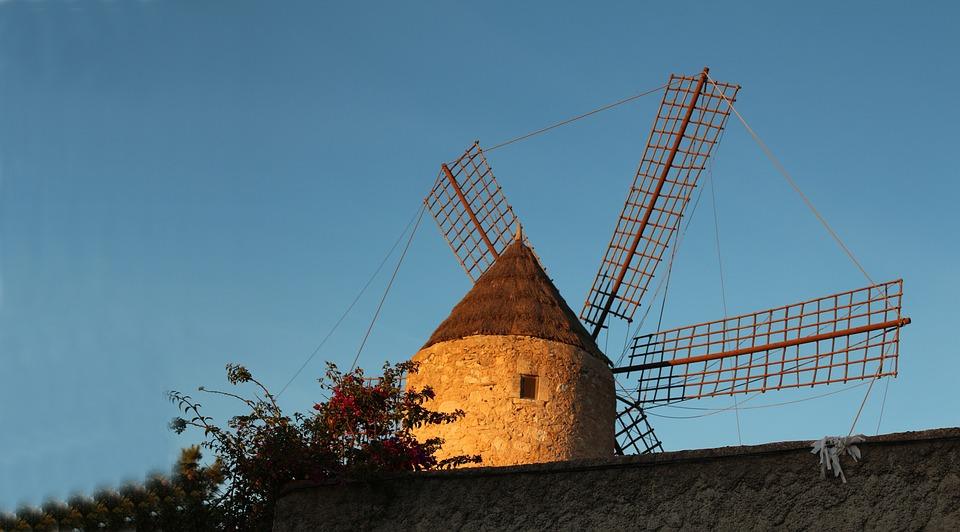 Windmill, Mallorca, Mill, Wind Energy, Historically
