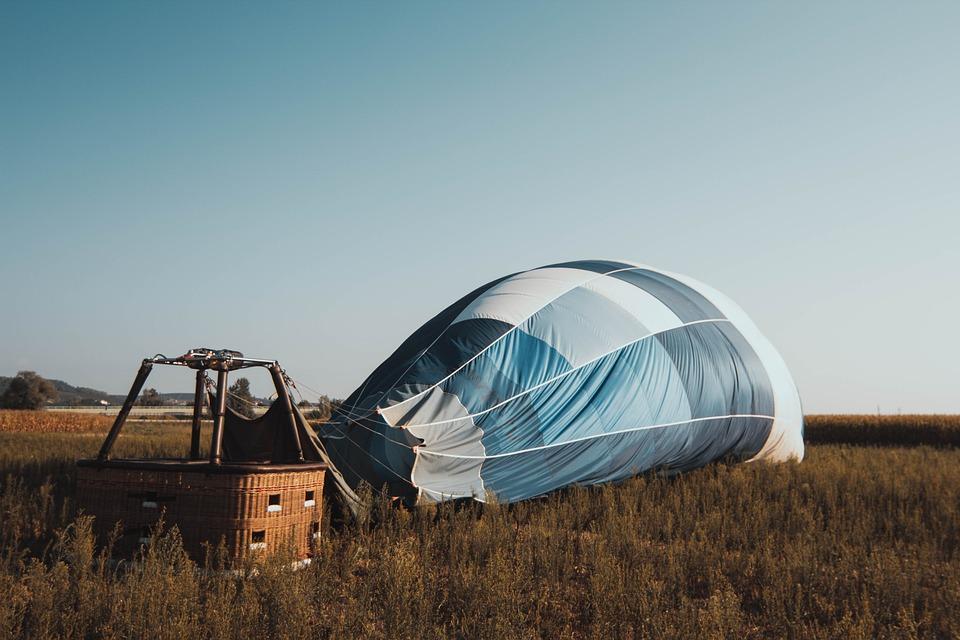 Hot Air Balloon, Balloon, Sky, Blue, Wind, Field
