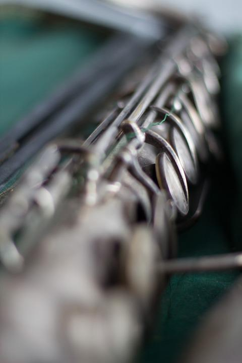 Instrument, Clarinet, Music, Silver, Wind Instrument
