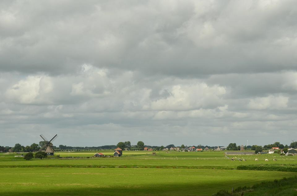 Mill, Wind Mill, Countryside, Pasture, Agricultural