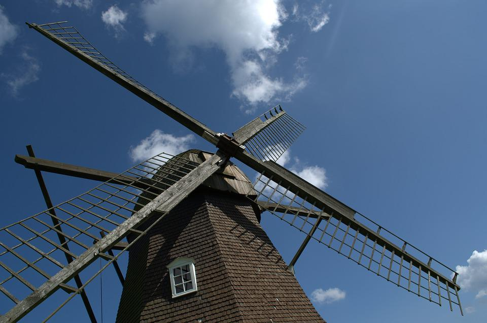 Windmill, Sky, Mill, Wing, Clouds, Wind, Nature, Mood