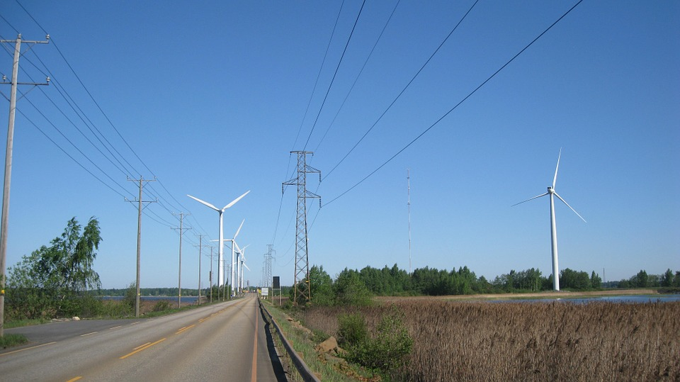 Pori, Reposaari, Bridge, Wind Power, Wind Turbine