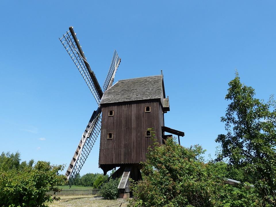 Mill, Windmill, Wind Power, Mediterranean, Wind