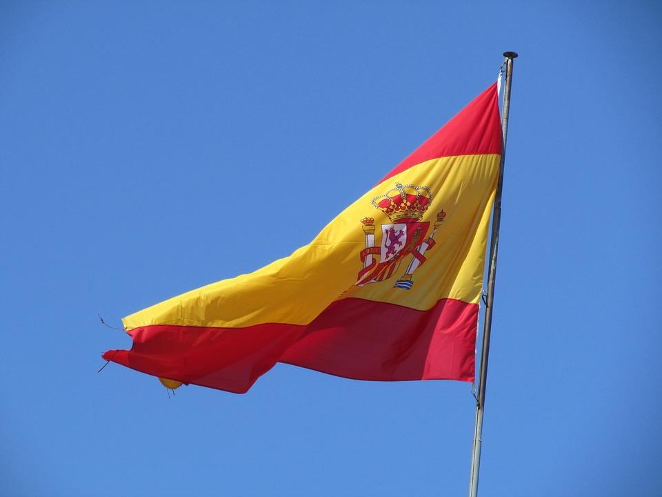 Flag, Spain, Sky, Wind, Holiday, Fluttering, Spanish