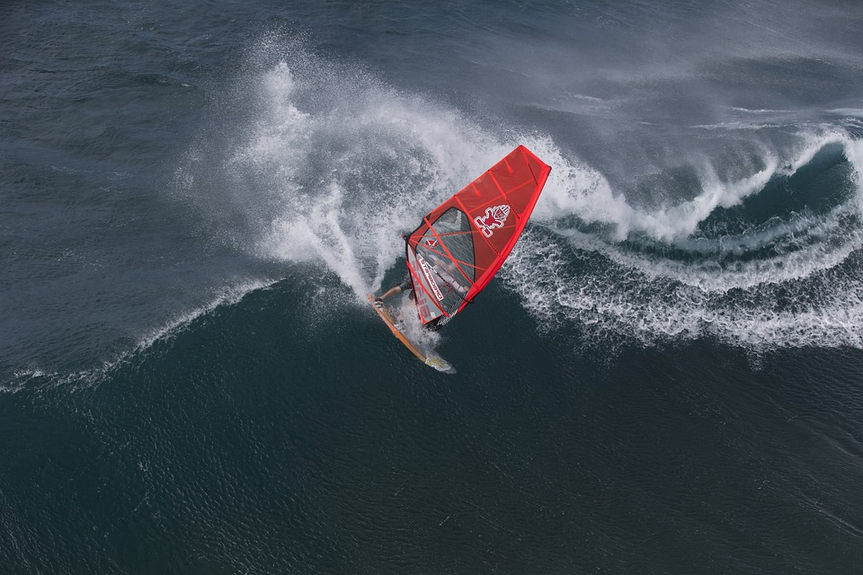 Hawaii, Wind Surfing, Recreation, Sports, Wave, Waves