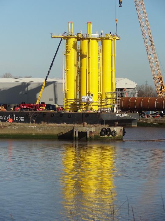 Wind Turbine, Construction, Wind Turbines, River