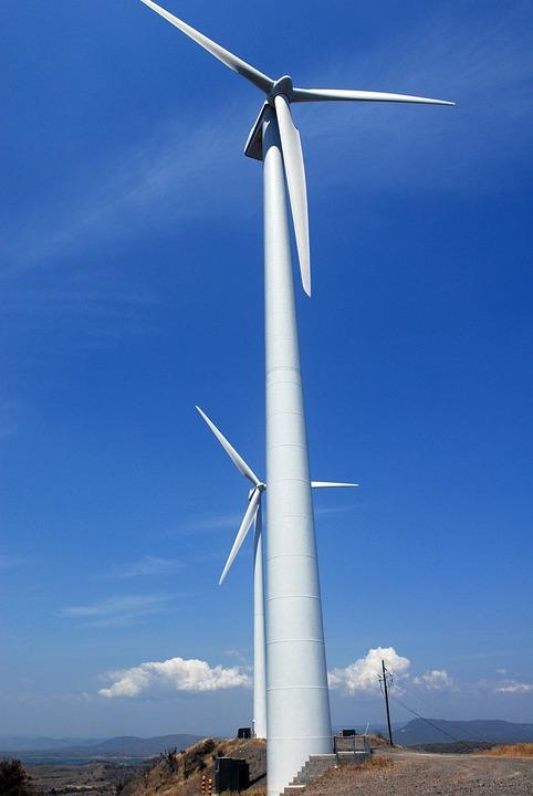 Wind Turbines, Sky, Clouds, Energy, Green Energy