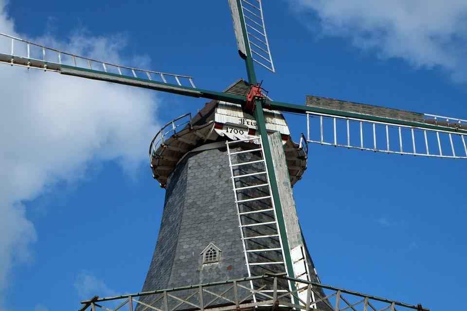 Windmill, Wing, Mill, East Frisia, Wind, Clouds, Mood