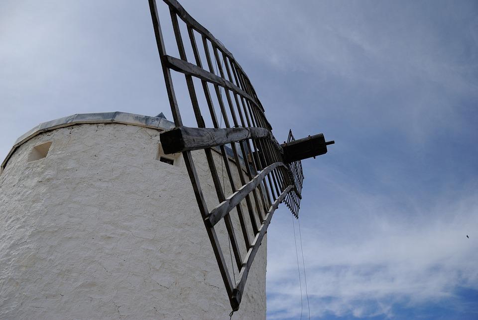 Windmill, Sky, Architecture