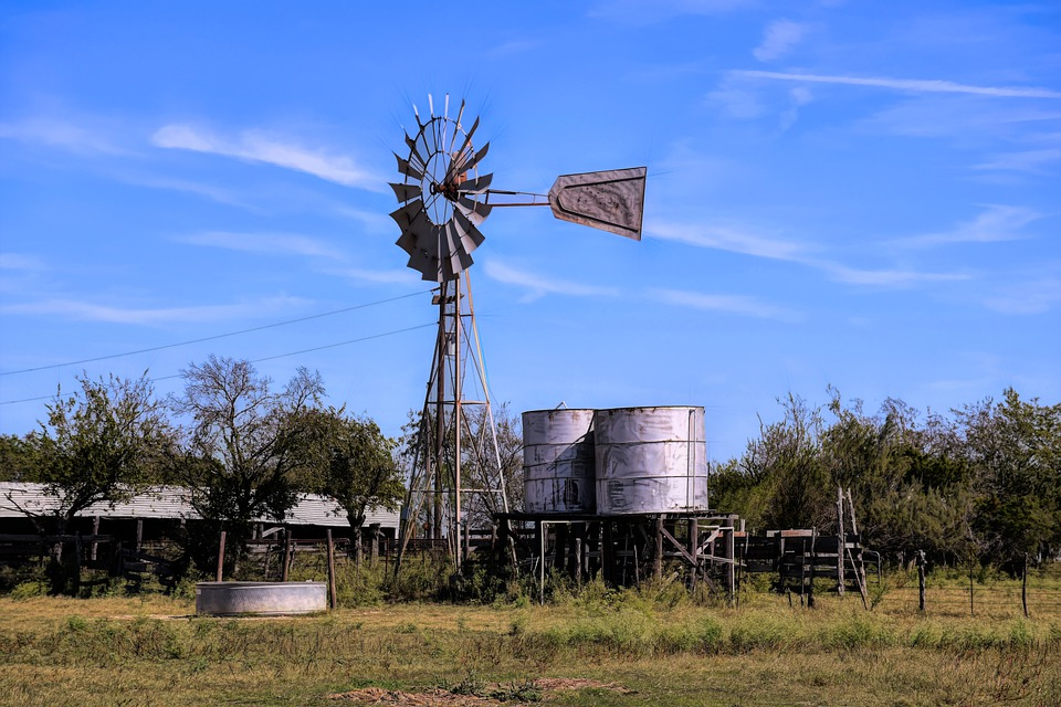 Texas, Scenic, Countryside, Windmill, Water Storage