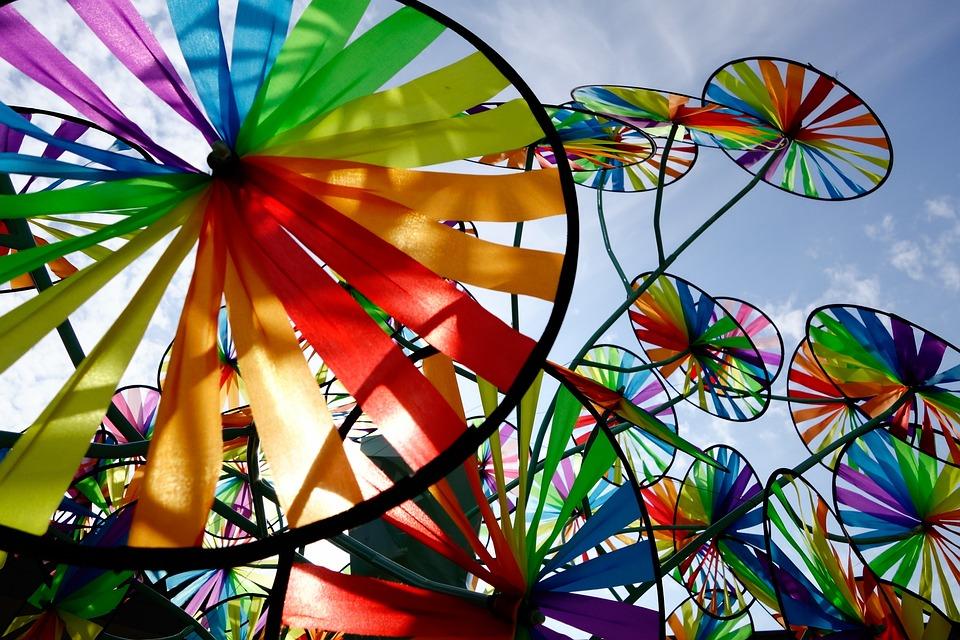 Pinwheel, Wind, Sky, Colorful, Windmill, Joy