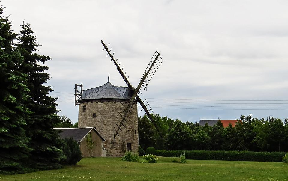 Windmill, Old, Antique, Nostalgia, Mill, Windräder