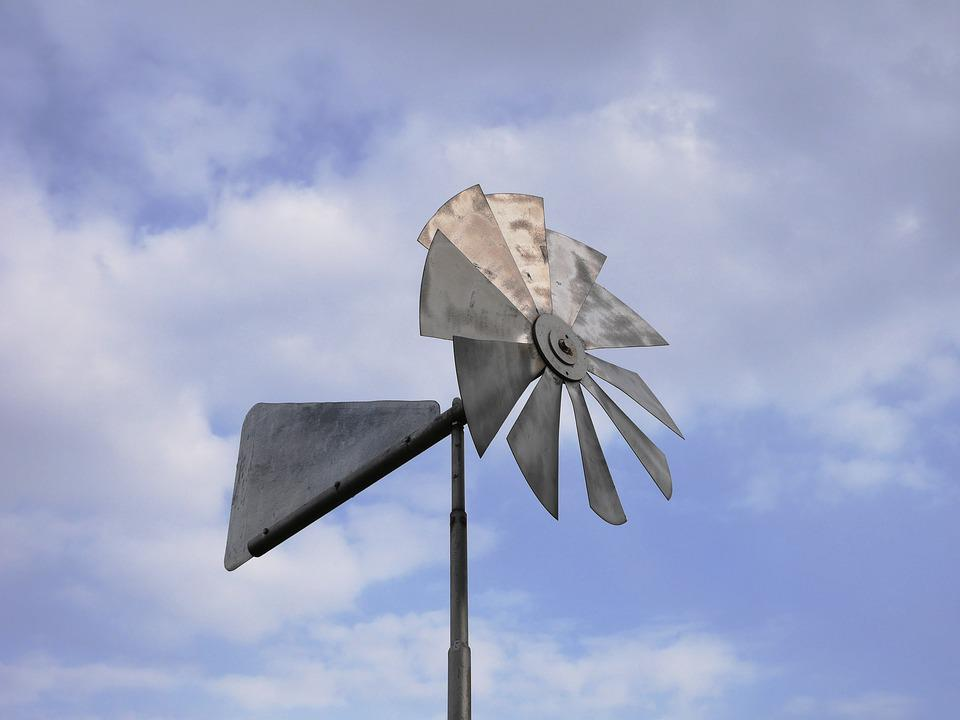 Windmill, Sky, Blue, Old, Traditional