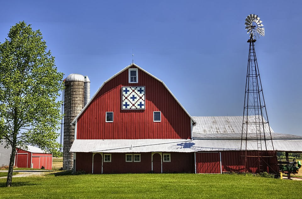 Free Photo Windmill Quilt Quilt Barn Barn Ohio Barns