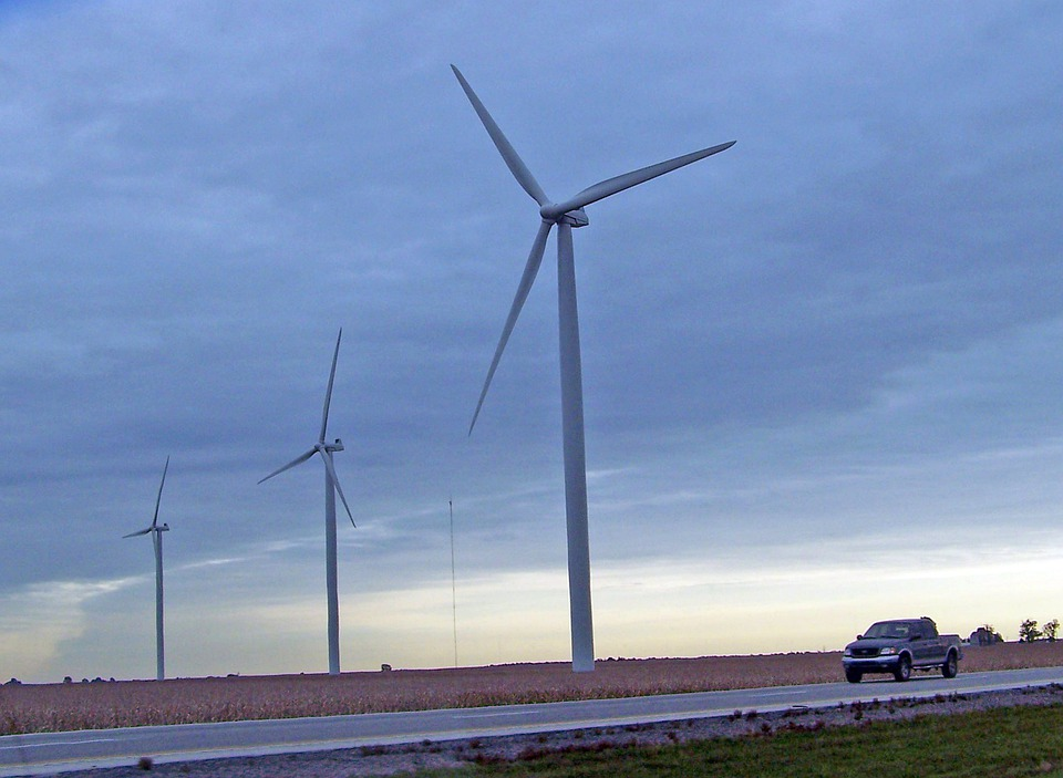 Windmill, Truck, Wind Energy, Wind Turbines