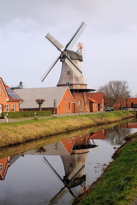 Windmill, Grind, Wing, Flour Mill, Turn, Lower Saxony