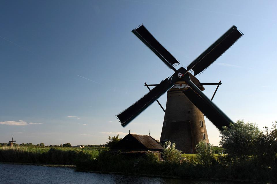 Mill, Netherlands, Kinderdjik, Unesco, Windmill, Wind