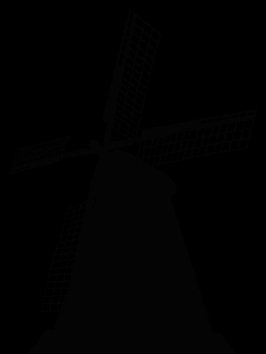 Windmill, Gabonaőrlő, Mill, Wind, Rotate