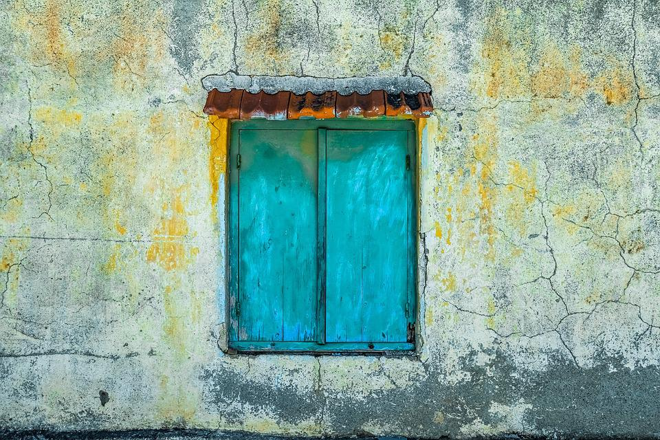 Window, Wall, Old, Dirty, Weathered, Aged, Decay