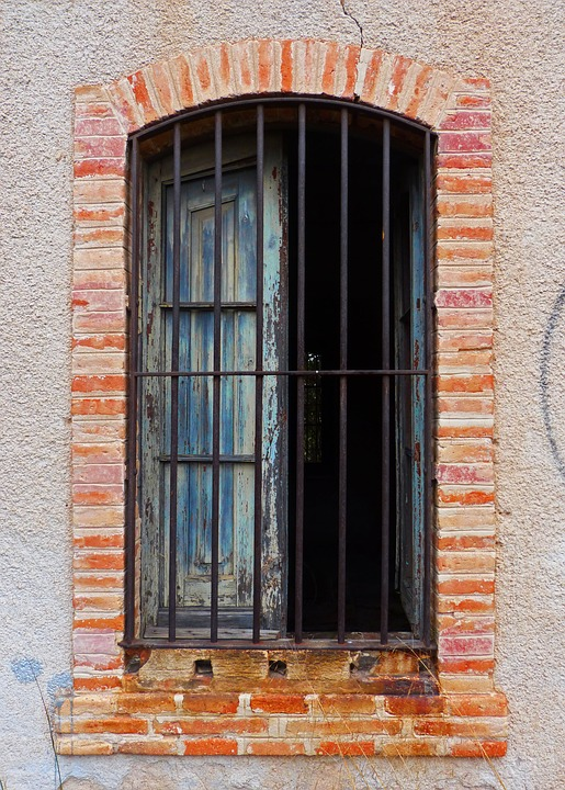 Window, Bricks, Abandoned, Balusters, Architecture, Old