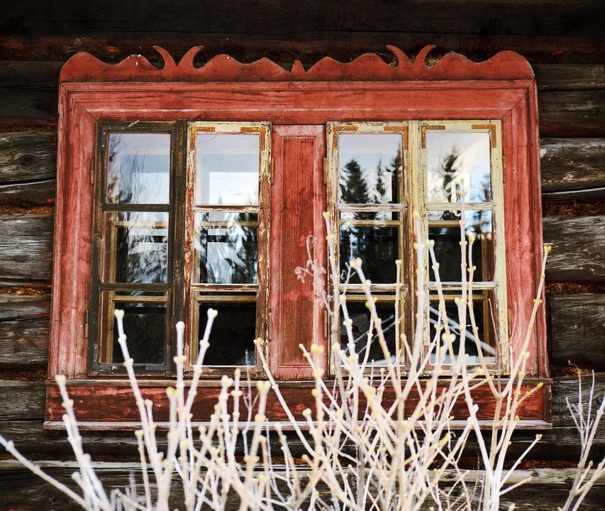 Window, Old, Architecture, Red, Antique, Vintage