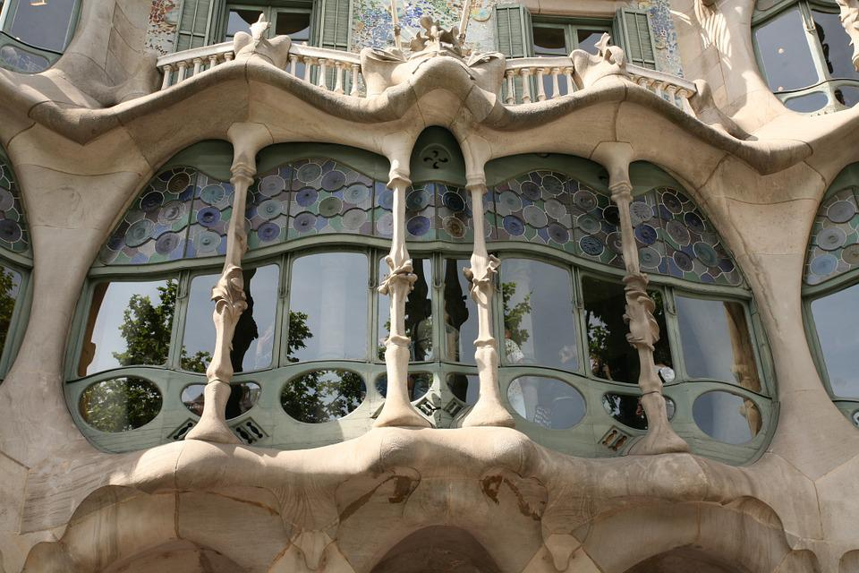 Baroque, Window, Stained Glass, Fanciful, Barcelona