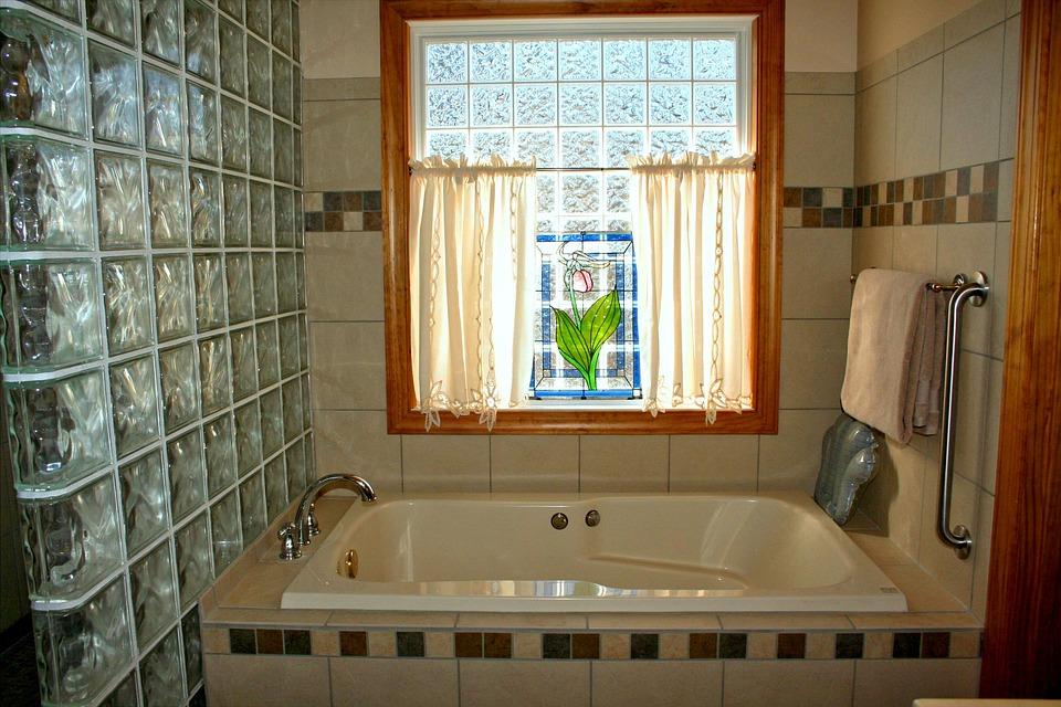 Free photo Window Bathtub Pink Lady Slipper Stained Glass Bath - Max ...