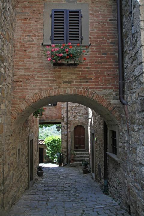 Brick Walls, Window, Blind, Italian, Architecture, Old