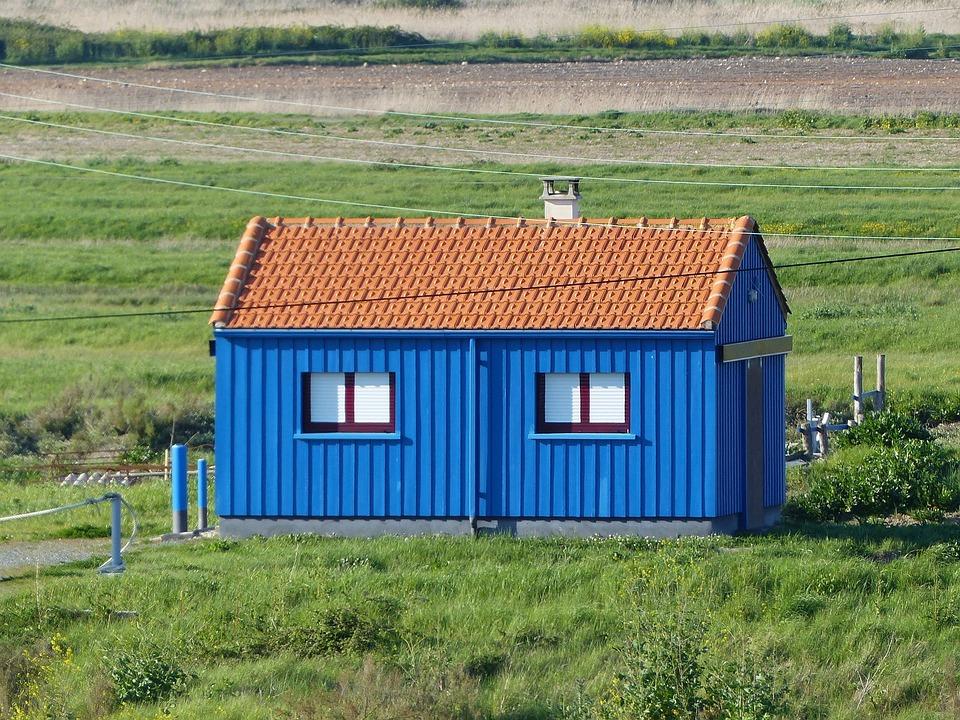 House, Blue, Blue House, Window, Architecture