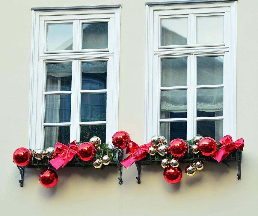 Window, Christmas Decorations, Christmas, Facade, Home