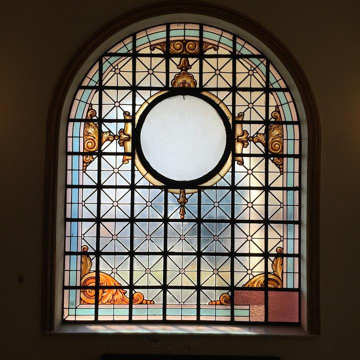 Stained Glass, Cruz, Window, Church, Hospital