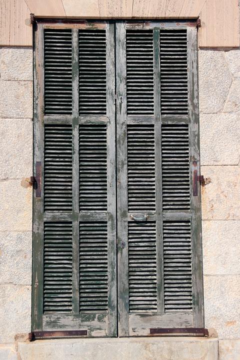 Shutter, Window, Wooden Shutters, Old, Facade, Closed