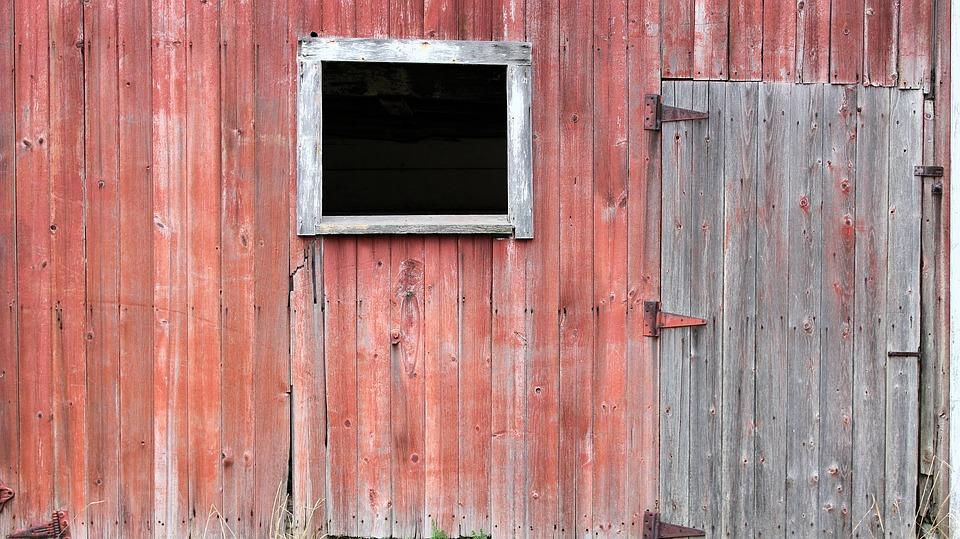 Door, Window, Barn, Texture, Wood, Paint, Grain, Rust