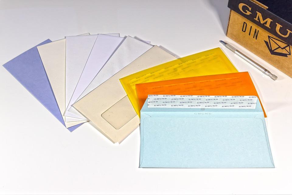 Envelope, Window Envelope, Din Long, Tape
