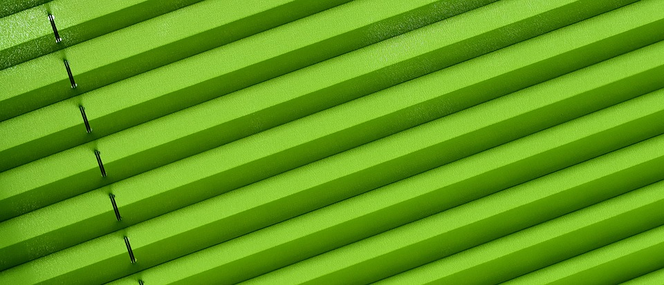 Pleated, Privacy, Window, Sun Protection, Green, Fabric