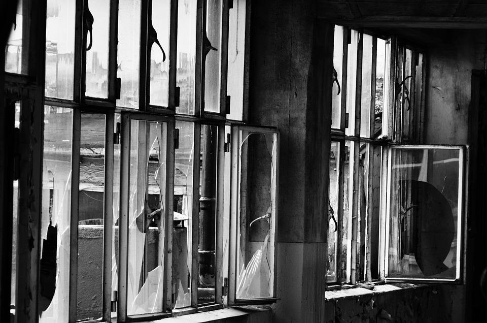 Window, Building, Devastated, Factory Building, Facade