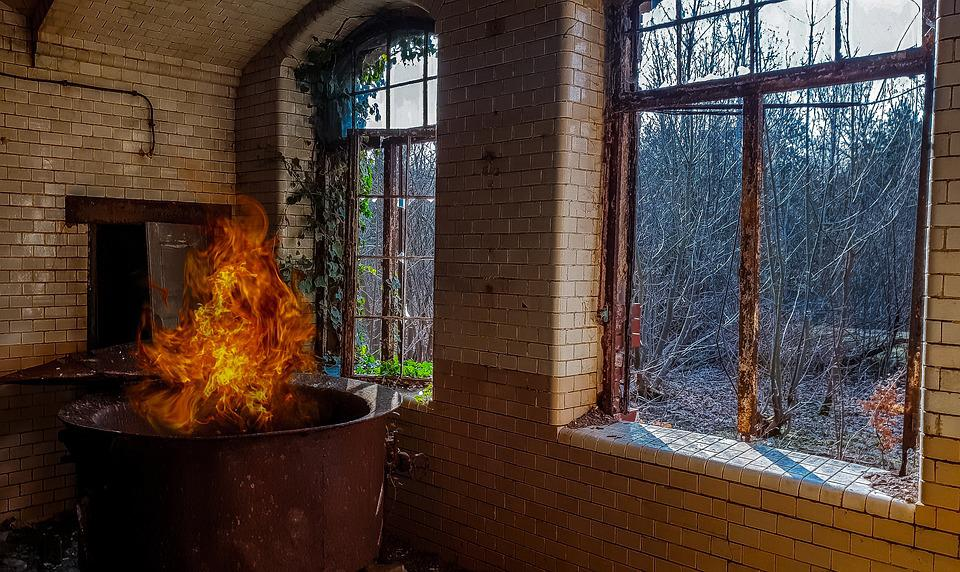 House, Window, Inside, Old, Decay, Abandoned, Fire