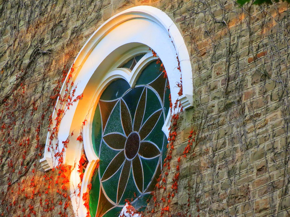 Church, Wall, Window, Stained, Glass, Historic