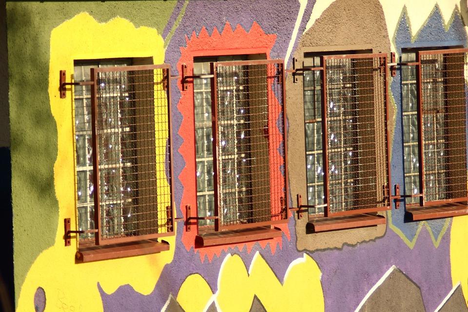 Window, Window Grille, Lattice Window, Graffiti