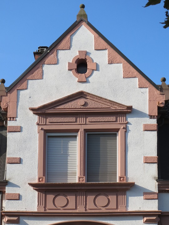 Kirchenstr, Hockenheim, Gable, Pediment, Window, House