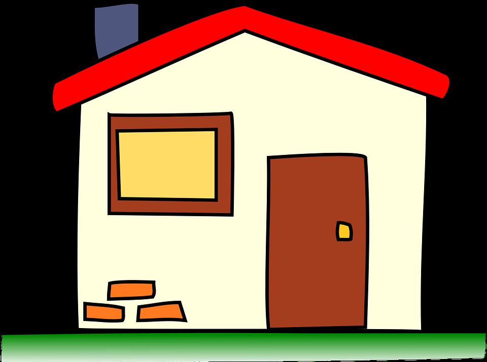 Building, House, Home, Window, Door, Chimney, Bricks
